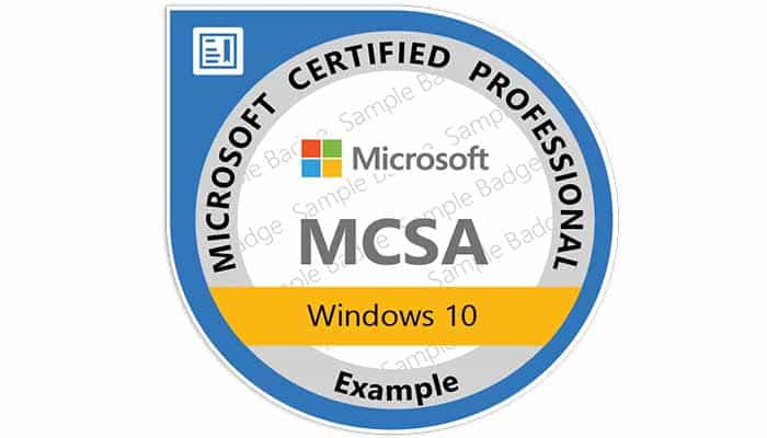 mcsa  windows 10  u2013 it training